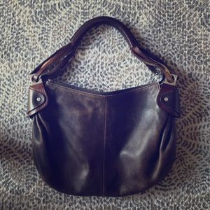 Over the shoulder Italian leather bag